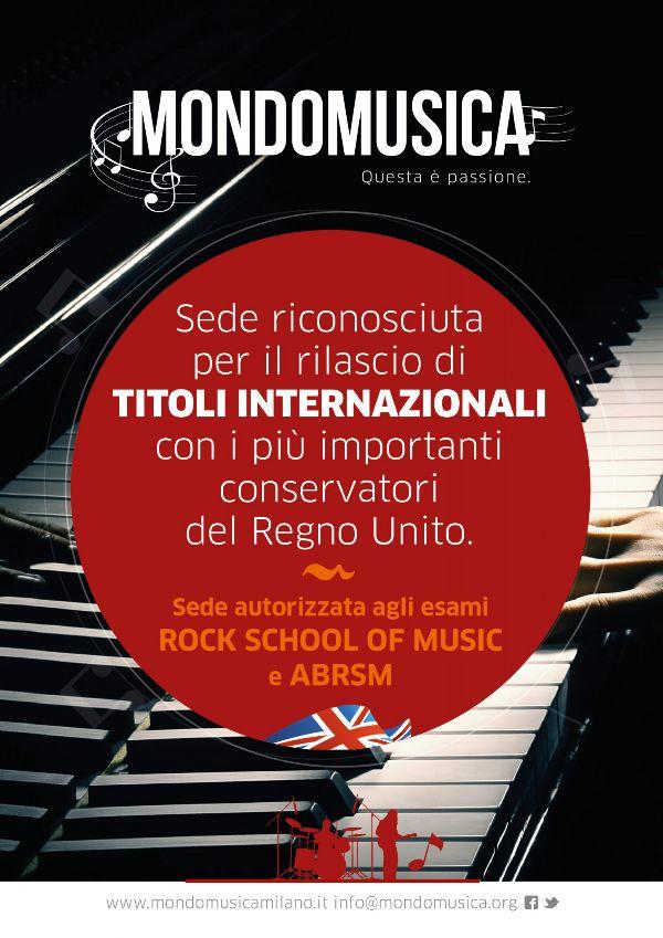 Esami con validit internazionale scuola mondo musica for Corsi creativi milano
